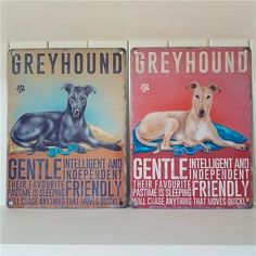BLACK OR TAN GREYHOUND CHIC N SHABBY VINTAGE METAL DOG SIGN via Bluelake Interiors. Click on the image to see more!