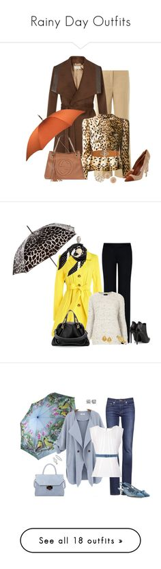 """""""Rainy Day Outfits"""" by binkie211 ❤ liked on Polyvore featuring Valentino, Planet, Hermès, Labour of Love, Pannee, Manolo Blahnik, Gucci, Molly Bracken, Carolina Bucci and Totes"""