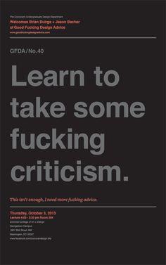 Good Fucking Design Advice Posters on Behance