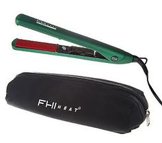 Sick of your bathroom being crowded with a million hair styling tools? Clear the clutter with this #Emerald FHI Heat Global Professional Volumizing Iron with Travel Bag .  It's perfect for straight or curly, and is available in the #ColorotheYear!
