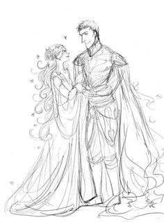 Old sketch of Persephone & Hades, together again