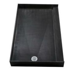 Tile+Ready+Shower+Pans | Tile Ready Double Curb Shower Pan (30 x 60 Left PVC Drain) | Overstock ...