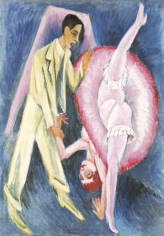 Ernst Ludwig Kirchner, Tanzpaar, 1914. This painting was banned by the Nazi regime and exhibited at the Degenerate art exhibition in Munich in 1937.