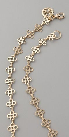 Tory Burch Mini Clover Necklace - I really need a gold coloured one!