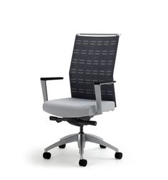 Sona Knit Back Task Chair with Fixed Arms View 1