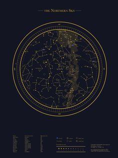 Celestial Maps by Rida Abbasi, via Behance