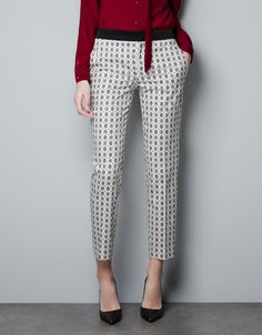 TROUSERS WITH TIE PRINT - Trousers - Woman - ZARA Serbia