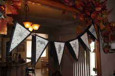 Halloween Banner Made from Book Pages