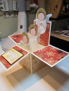 Calla Lily Studio Blog: Christmas Card in a Box!  Angel Punch Art - short directions in post for angel creation. Chris's Basic Card Box directions here: http://callalilystudioblog.blogspot.com/2013/11/card-in-box.html