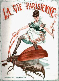 La Vie Parisienne cover. Facebook Page of Chéri Hérouard: http://www.facebook.com/cheriherouardartist/