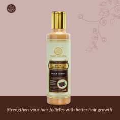 Nourish and strengthen your hair with Khadi Natural™ Black Coffee Hair Cleanser. It helps in providing essential minerals and vitamins to the scalp. It works as a great booster for hair and reduces hair loss and helps in hair growth. Black coffee also helps in improving the texture of damaged hair giving it a silky-smooth finish. #khadinaturalcare #haircare #naturalandherbal #rawcoffebeans #deepcleansing #scalpnourishment #naturalcare #haircleanser  #beauty #naturalskincare #naturalbeauty Coffee Hair, Hair Cleanser, Black Coffee, Damaged Hair, Hair Loss, Hair Growth, Natural Skin Care, Herbalism, Hair Care