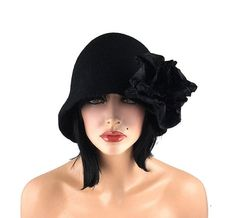 Hey, I found this really awesome Etsy listing at https://www.etsy.com/listing/105548287/cloche-hat-1920s-hat-felt-hat-cloche