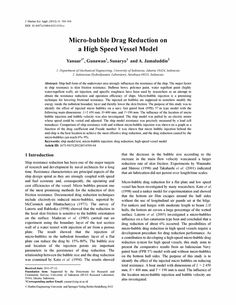 Micro-bubble drag reduction on a high speed vessel model - Springer