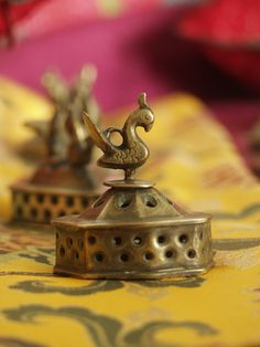 traditional brass footscrubber ... Vajri