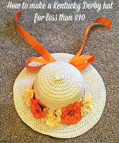 It's Kentucky Derby time! Find out how to make a Kentucky Derby hat for less than $10.