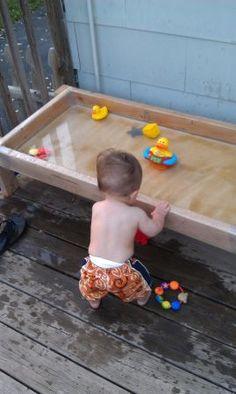 Outdoor water table idea