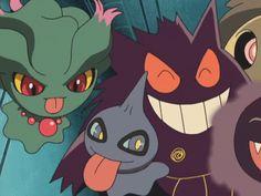 Ghost Pokemon, Pokemon Gif, Pokemon Memes, Pokemon Cards, Otaku Anime, Anime Manga, Pokemon Fantasma, Ghost Type, Pokemon Universe