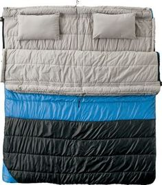 Two person sleeping bag want want want! Or the idea of zippering two one person bags together?