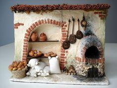 - Happy Christmas - Noel 2020 ideas-Happy New Year-Christmas Miniature Kitchen, Miniature Crafts, Miniature Houses, Diy Dollhouse, Dollhouse Miniatures, Fontanini Nativity, Christmas Nativity Scene, Miniature Furniture, Fairy Houses