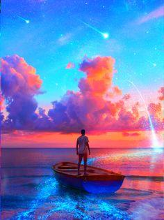 My Favorite Wallpaper: Magical sky Anime Scenery Wallpaper, Galaxy Wallpaper, Wallpaper Backgrounds, City Wallpaper, Beautiful Nature Wallpaper, Beautiful Landscapes, Nature Pictures, Beautiful Pictures, Sky Aesthetic