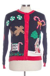 Black Ugly Christmas Cardigan 30906