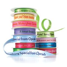Name Maker Personalized Ribbon. Cute as gift for others/wedding gift/etc. All Gifts, Food Gifts, Personalized Ribbon, Personalized Items, Name Maker, Custom Ribbon, Printed Ribbon, Oprah, Gift Baskets