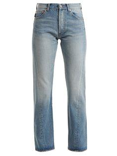 Twisted straight-leg jeans | Balenciaga | MATCHESFASHION.COM