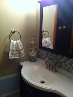 Beach theme bathroom on pinterest beach bathrooms - Beach themed bathroom mirrors ...