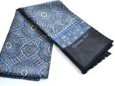 Vintage Men's Scarf silk Scarf Christian Dior Scarf by apt222, $48.00
