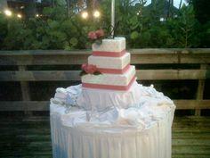 Peal & Crystal Beach Wedding Cake
