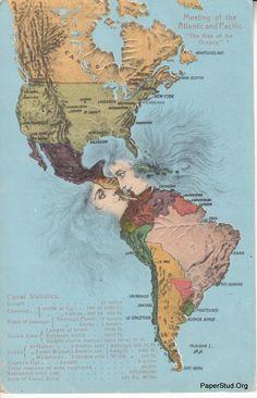 ratak-monodosico: Panama Canal - The Kiss Of The Oceans thats interesting Panama Canal, Panama City Panama, Central America, South America, Map Globe, Costa Rica Travel, Map Art, Vintage World Maps, Vintage Travel