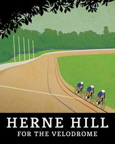 Herne Hill Velodrome   #cyclingposters @brooksengland  via @tonyplcc