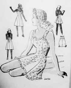 40s Swimsuit or Sundress Pattern Anne Adams 4754 Pin Up Bathing Suit Criss Cross Back Bust 32 Vintage Sewing Pattern