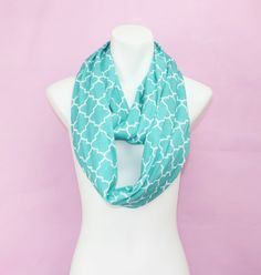 Kids Children Cotton Jersey Knit Quatrefoil Circle Ring Scarf Infinity Scarves for girls,girls infinity scarf
