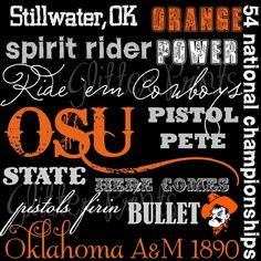 oklahoma state university subway art - Google Search