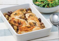 Baked Chicken with Roasted Grapes and Rosemary