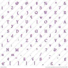 Cricut Library Font Cartridge