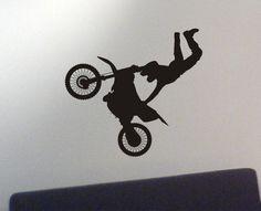 Dirtbike wall decal - motocross sticker