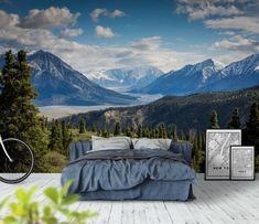 Canada mountains fototapet/tapet fra Happywall