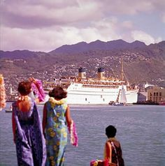 """In April 1948, the Lurline returned to California-Hawaii service, with gala bon voyage parties. When the vessel arrived in Honolulu for the first time since the war, the governor had proclaimed """"Lurline Day"""". With ceremonies and festivities going on far into the night, it was one of the greatest spontaneous public demonstrations in the history of the islands. Shortly thereafter, bookings on the Lurline were made months in advance. By 1955, the liner operated at 97% of capacity."""