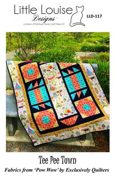 Tee Pee Town - Quilt Pattern by Little Louise Designs Tee Pee, Quilt Sizes, Velvet Ribbon, Baby Quilts, Quilt Patterns, Craft Supplies, My Etsy Shop, Tees, Crib