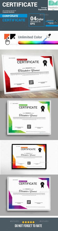 Certificate Template Stationery, Templates and Certificate templates - corporate certificate template