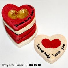Valentine's Day Gifts - Thumbprint Heart Keepsakes