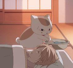 Mi gato me cuida .... :3