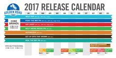 Looking forward to some of your favorite Golden Road Brewing beers this   year? Check out our plans for the year!*    *Subject to change