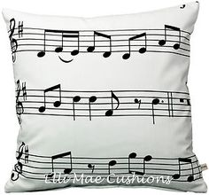 Ikea Music Notes Fabric Cushion Pillow Cover
