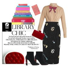 """""""Library chic"""" by ellenfischerbeauty ❤ liked on Polyvore featuring MaxMara, Gucci, N°21, Dolce&Gabbana, library, HowToWear and waystowear"""