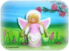 Engel Herz Jahreszeitentisch von Susannelfes Blumenkinder  auf DaWanda.com