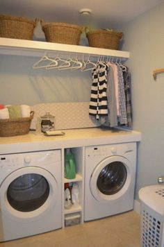Diy Laundry Room Ideas Small If you are looking for Diy laundry room ideas small you've come to the right place. We have collect images about Diy laundry room ideas small includin. Elegant Laundry Room, Basement Laundry Room, Small Room Design, Room Shelves