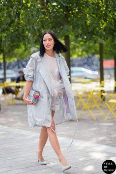 Tiffany Hsu Street Style Street Fashion Streetsnaps by STYLEDUMONDE Street Style Fashion Blog